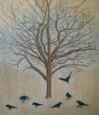 Crows Tree, oil on canvas